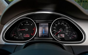 audi, q7, dashboard, display, defect, teller, kilometerteller,